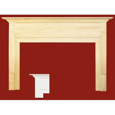Newport MDF Primed Fireplace Mantel Surround Shelf Length: 36