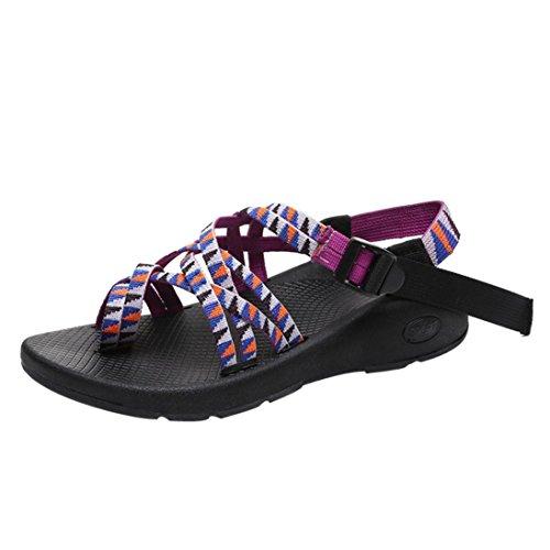 de Tejida Zapatos Mujeres Correa de Sandalias Boho Moda Zapatillas P de Verano Zapatillas Las Chanclas Ocio de pwPUqzU
