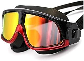 OVVO Lunettes de Natation Anti-buée Protection UV Coated Lens Pas de fuites d'eau avec Nez Clip (Rouge)