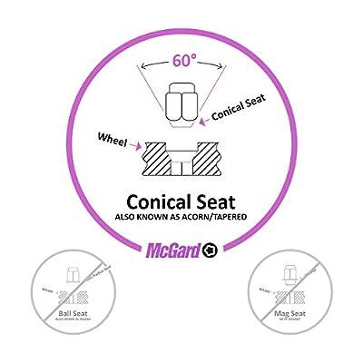 McGard 24154 Chrome Cone Seat Wheel Locks (M12 x 1.25 Thread Size) - Set of 4: Automotive