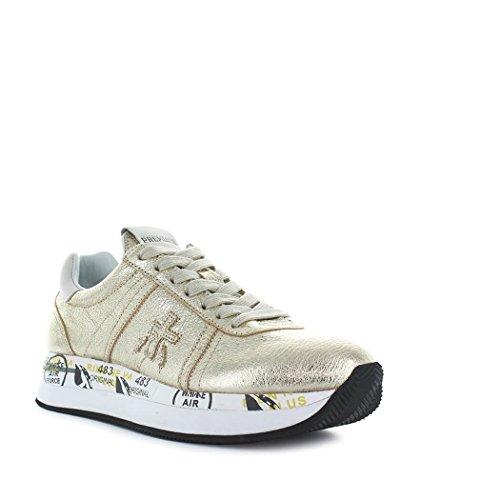Premiata Damen Conny2982 Goud Leder Sneakers