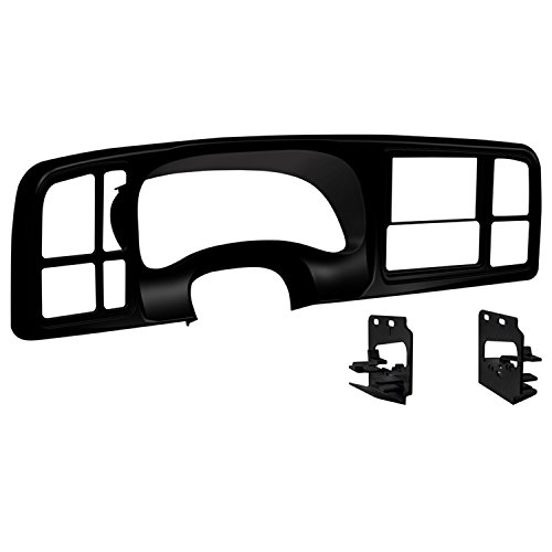 Metra DP-3002B Double DIN Dash Kit for 1999 - 2002 GM Full-Size Trucks/SUV's (Matte Black) ()