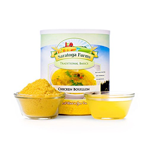 Saratoga Farms Chicken Bouillon, Cooking Essential, 1 Emergency Food Storage, 191 Servings with a 10-20 Year Shelf-Life in #10 Can (Save More with 2,3,4, or 6 -
