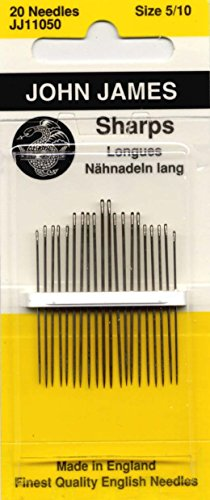 Sharps Hand Needles-Size 5/10 20/Pkg