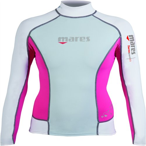 Mares Scuba Diving Thermo Guard 0.5 Long Sleeve She Dives-Blue Fog-8