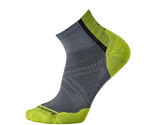 Socks Mini Light Outdoor (SmartWool Men's PhD Cycle Light Elite Mini Socks (Graphite) Medium)