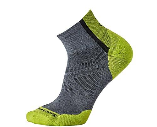SmartWool Men's PhD Cycle Light Elite Mini Socks (Graphite) Medium - Smartwool Athletic Light Mini