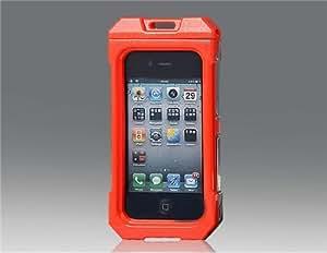 Completa el agua a prueba de funda protectora para el iPhone 4 (rojo)