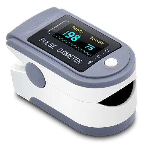 Oximeter Blood Oxygen Saturation Monitor,Heart Rate and Fast Spo2 Reading Oxygen Meter with OLED Screen Batteries and Lanyard…