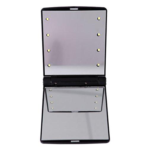 beneu lighted makeup mirror vanity compact desktop 8 leds travel celebrity portable folding. Black Bedroom Furniture Sets. Home Design Ideas