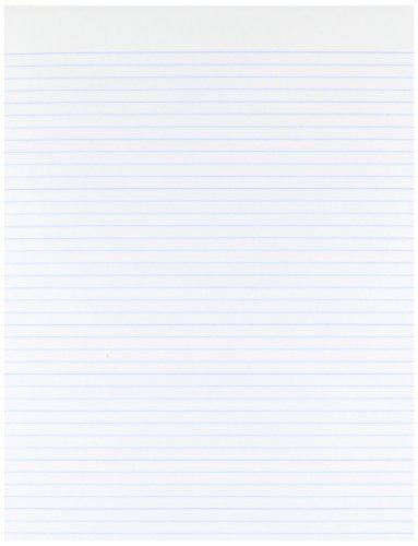 Ampad Evidence Glue Top 8-1/211 Pads, Narrow Rule, White, 50 Sheets, Dozen (21-118)