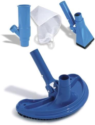 Bodensauger Duo - Pool Bodenreiniger mit zwei verschiedenen Absaugbürsten (Boden- und Eckbürste) sowie Schmutzauffangbeutel - die einfache Lösung für einen sauberen Gartenpool