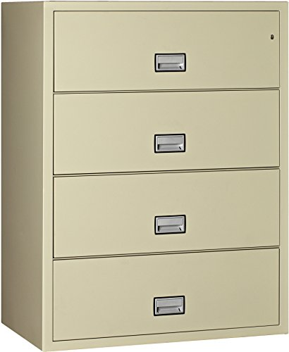 Phoenix Lateral 44 inch 4-Drawer Fireproof File Cabinet - Putty