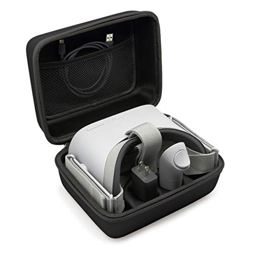 SURDAR VR Oculus Go Case Travel Storage Carrying Case for Oculus Go/Samsung Gear Virtual Reality Headset Gamepad Game Controller Kit (Black)