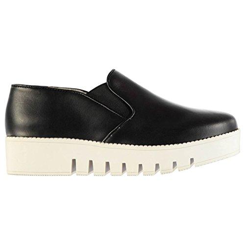 Jeffrey Campbell f1536Chaussures à enfiler pour femme Noir Fashion Chaussures