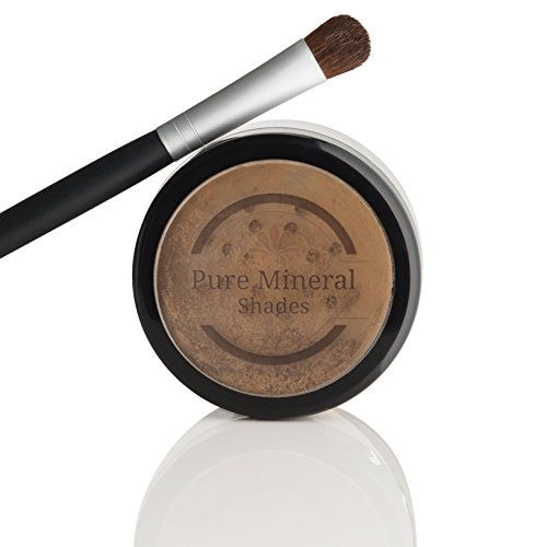 Natural Cover Stick (Root Touch Up Powder, All-Natural Luxury Root Concealer With Brush, Crushed Minerals, Fast and Easy Total Grey Hair Cover Up For Dark, Brown and Blonde Hair .32 Ounce (Medium Brown))