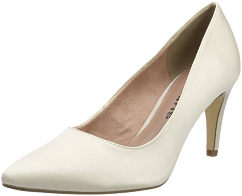 Tamaris Women's 22500 Closed Toe Heels White (Champagne 179)