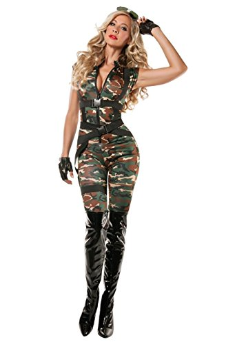 Womens Paratrooper Costume (Sexy Paratrooper Women Costume - X-Large)