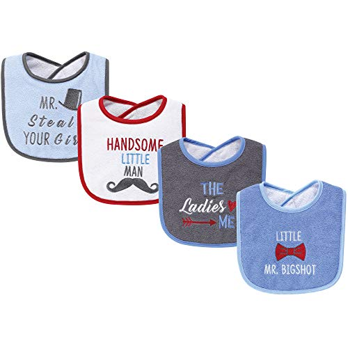 Hudson Baby Baby Drooler Bib 4 Pack-The Ladies Love, One Size