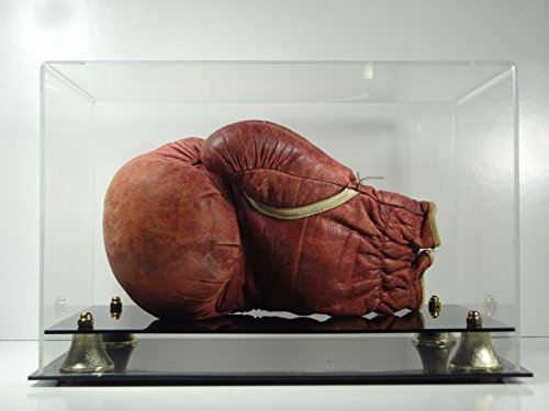 Boxing Glove Display Case Horizontal with Two-tier Acrylic Base (Display Case Boxing Single Glove)
