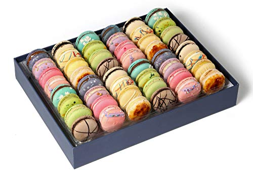 French Macarons Cookies Premium Gourmet Chocolate Gift Basket Idea Birthday Food Snack Sympathy Thank You Halloween Anniversary Get Well Corporate Thanksgiving Holiday Christmas Her Him Prime 48 -