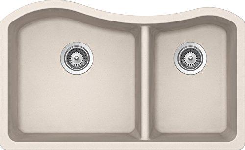 SCHOCK ASHN175U026 ASH Series CRISTALITE 70/30 Undermount Double Bowl Kitchen Sink, Everest