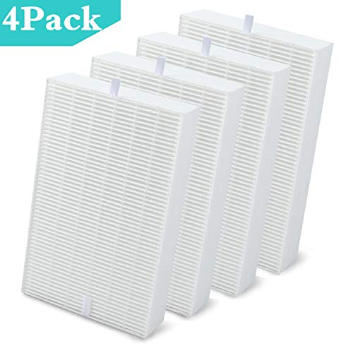 DerBlue 4pcs HEPA Air Purifier Filters Replacement for Honeywell HRF-R1 HRF-R2 & HRF-R3 Filter R