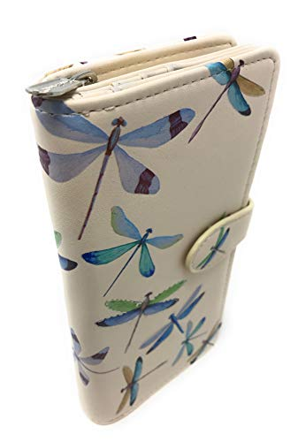 Shagwear Dragonflies Wallet for Women Beige