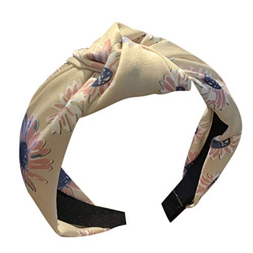 VOWUA Hairband Elegant Charming Lace Dot Headband Creative Wide-brimmed Headwear Accessories Headband 1PC ()