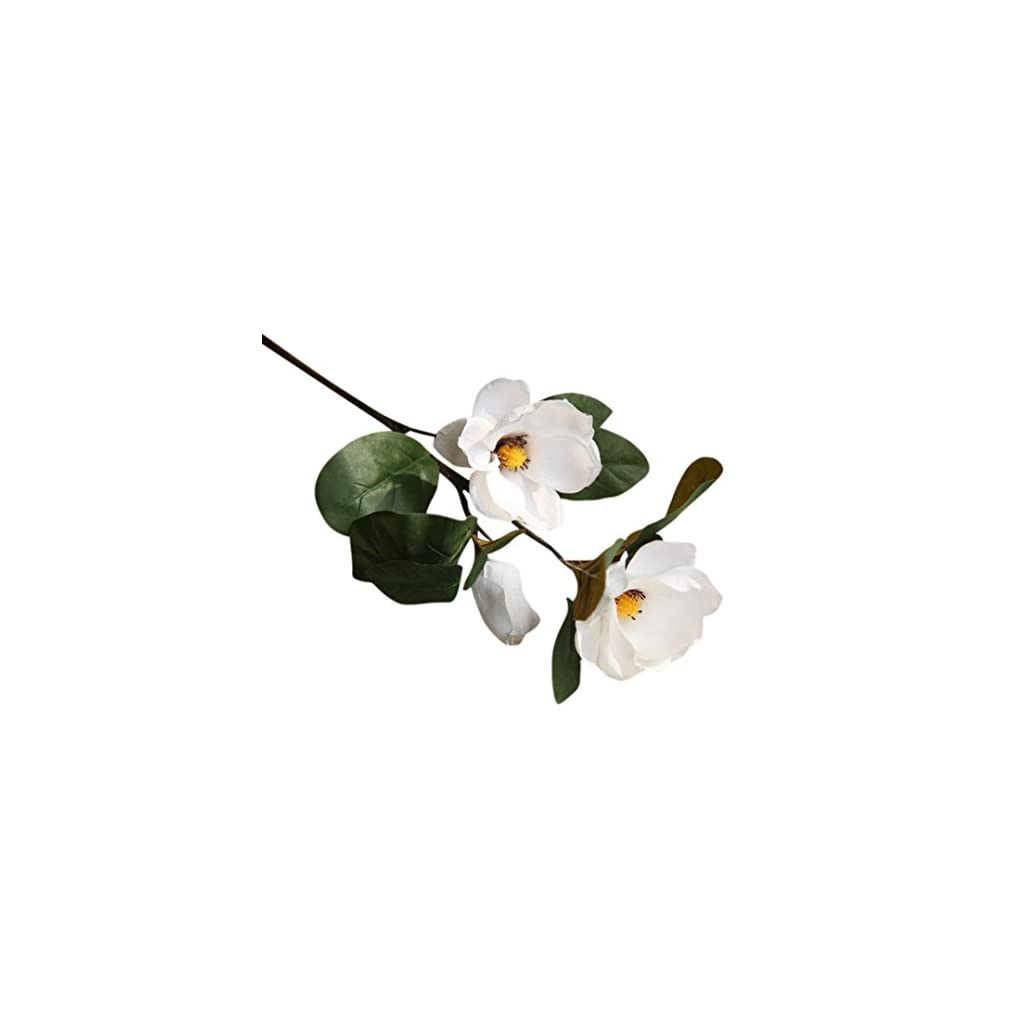 Transer-3-Heads-Artificial-Magnolia-Fake-Flower-Leaf-Home-Decor-Bridal-Bouquet