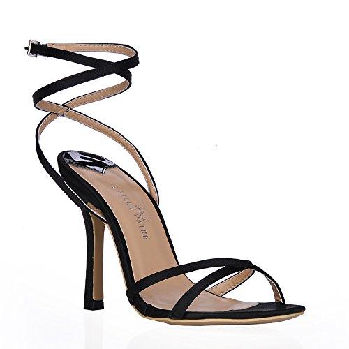 haut femme de talon de Emulation Sandales amende l'été soirée élégant look Black wire banquet à grandes avec minimaliste chaussures 6qfwdg