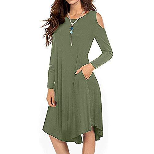 (Womens Dresses Women's Casual Spaghetti Strap Button Down Swing Midi Dress with Pockets)