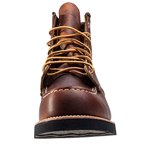 Red Wing Shoes 6 Classic Moc, Zapatos de cuero con cordones para hombre Copper Rough & Tough
