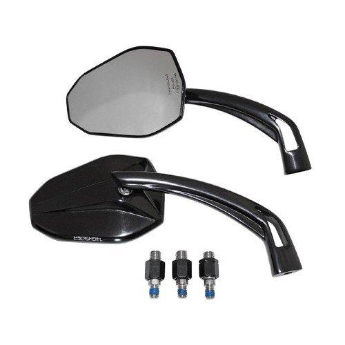 Motorrad Spiegel Lenkerspiegel Alu VICTORY schwarz eloxiert Adapter Yamaha /Paar E-geprüft