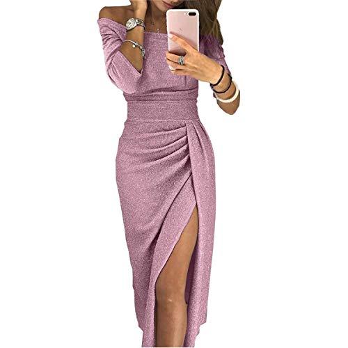 Con Puseky Spacco Pink Aderente Retro Da Alto Sul Vestito Donna N0w8nm