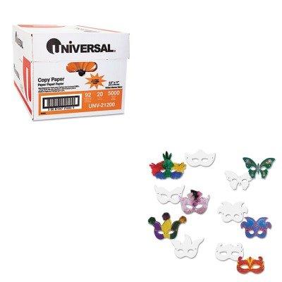 KITCKC4651UNV21200 - Value Kit - Creativity Street Die Cut Mardi Gras Masks (CKC4651) and Universal Copy Paper (UNV21200)