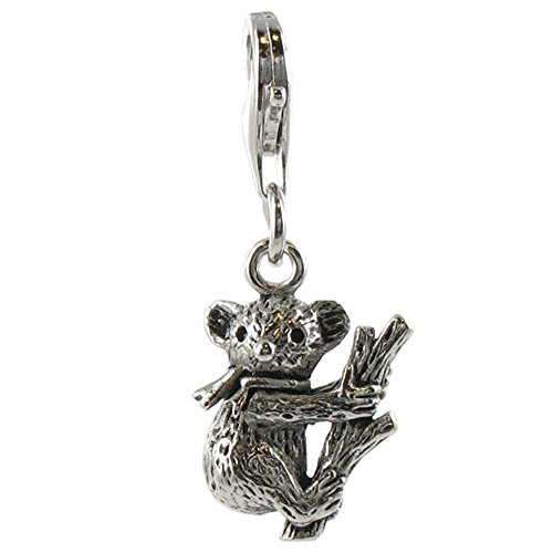 Quiges Fashion Jewellery Charms Argent Couche Koala