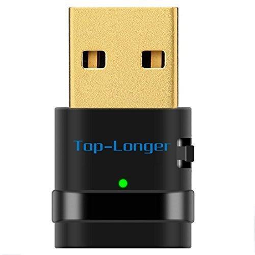 Top-Longer AC600 Dual Band Wireless Adapter WiFi USB Adapter-Maximale Geschwindigkeit bis zu 5G 433Mbps 2,4G 150Mbps-zweckmäßig für IEEE 802.11AC/N/G/B Standard für Laptop / Desktop Computer