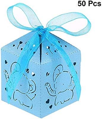 STOBOK Cajas de Caramelos de Papel Hueca para Bombones Dulce Chocolate Cajas de Regalo para Bautizo Decoraciones del Regalo de Cumpleaños 50 Piezas con ...