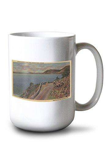 - Upper Klamath Lake, Oregon - Lookout Point (15oz White Ceramic Mug)
