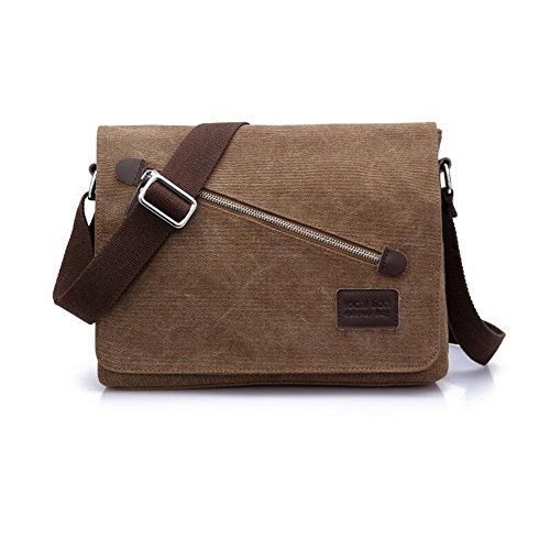 Wmshpeds Bolso de Hombro de lona masculino Bolso Messenger bag bolso multifunción B