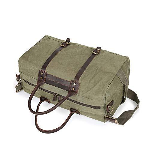 Vintage Hombres Impermeable Para Bolso Bandolera Armygreen De Gran Viaje Mano black L bolso Estilo Hombro Capacidad Fzyqy 55 36 Lona x6FXw711