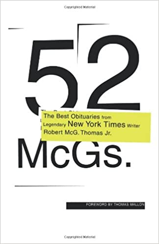52 McGs : The Best Obituaries from Legendary New York Times