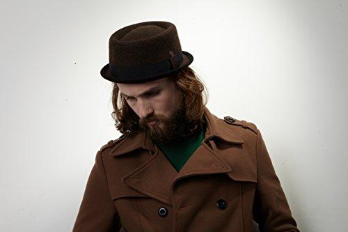 91c2a3b5e77 Dasmarca Mens Winter Wool Felt Stingy Brim Porkpie Hat at Amazon Men s  Clothing store