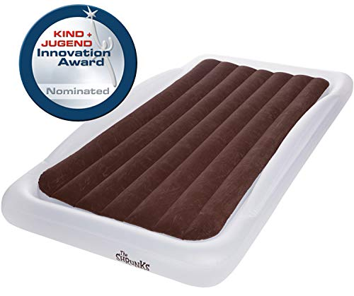 Great Deal! The Shrunks Sleepover Travel Bed Portable Inflatable Air Mattress Bed for Familes for Travel or Home Use, White, Twin Size 78 by 43 inches