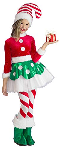 Princess Paradise Candy Cane Elf Princess Costume, Small]()