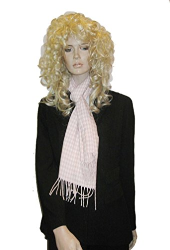 Cashmere Feel Unisex Pashmina Scarf in Checks and Plaid/ Houndstooth (Pink) (Check Pink Houndstooth)