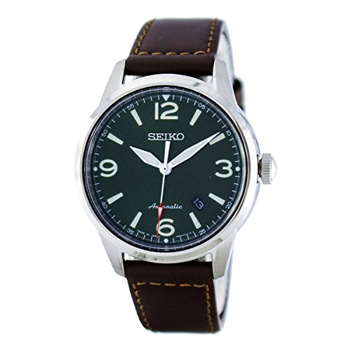 Seiko Presage SRPB05J1 Automatic Mens Watch Classic & Simple (Seiko Mens Green)
