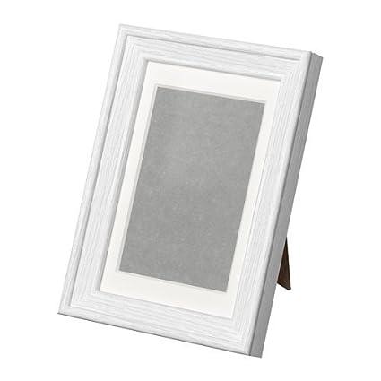 IKEA knoppäng marco blanco; Con marco y paspartú; (10 x 15 cm ...