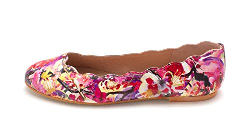 5 Sole 9 Size Flats Multicolor Closed French Womens Jigsaw Ballet Toe Leather PdPTfw
